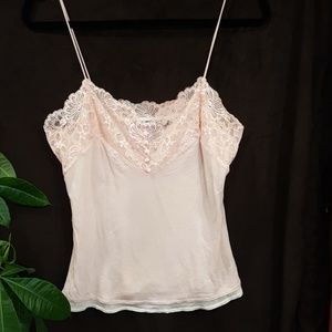Express vintage pink lace & sequin camisole.